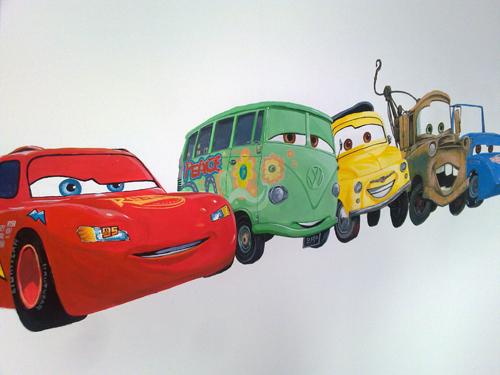 disneycars mural