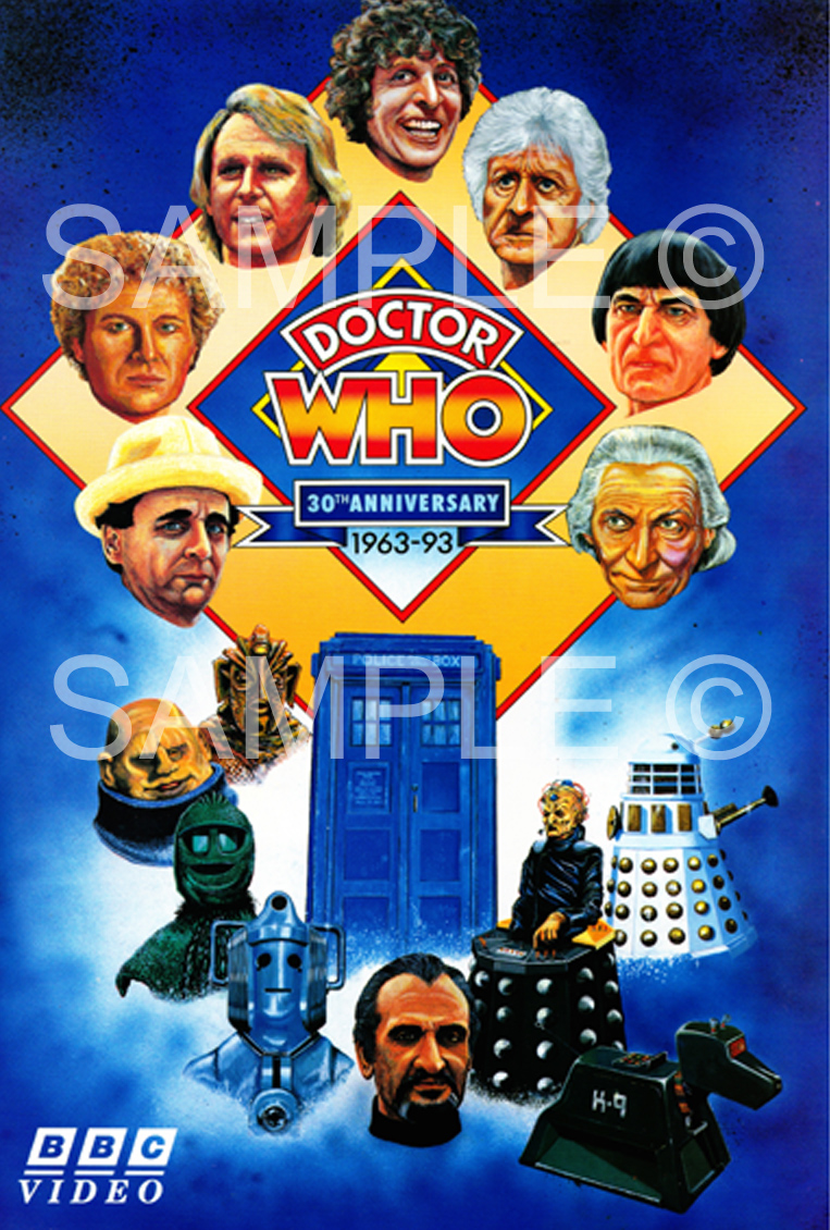 Dr who uk th anniversary poster graham collins art